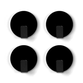 Svarte magnetkroke med sklisikker bakside - Trendform