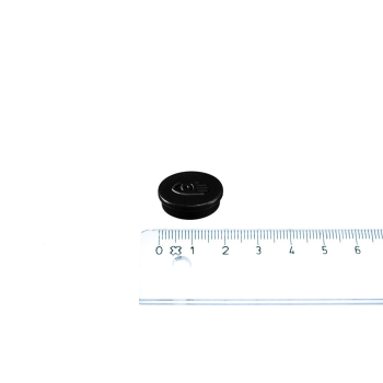 Svart magnet ø20 mm. fra Legamaster.