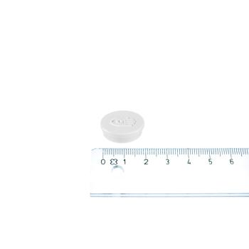 Hvit magnet ø20 mm. fra Legamaster.