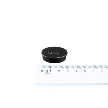 Svart magnet ø30 mm. fra Legamaster.