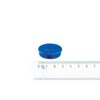 Blå magnet ø30 mm. fra Legamaster.