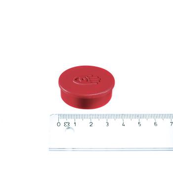 Rød magnet ø35 mm. fra Legamaster.