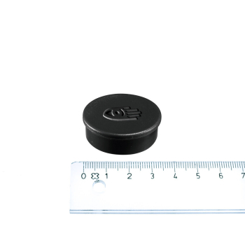 Svart magnet ø35 mm. fra Legamaster.