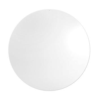 Rundt hvit metallbrett fra Trendform - Element Round. Inkl. 10 magneter