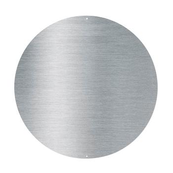 Rundt metallbrett av edelstål str. 44 cm. inkl. 10 sterke magneter