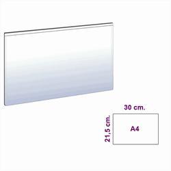 Hvit magnetlomme A4