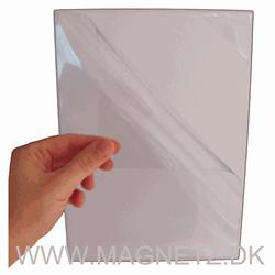 A4 hvit magnetlomme m. quickload