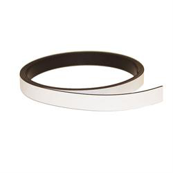 Hvit magnetbånd 10 mm. x 1 meter