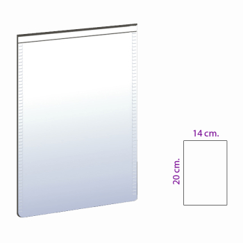 Magnetlomme 14x20 cm. hvit