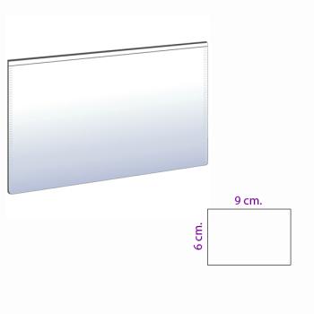 Hvit magnetlomme 9x6 cm.
