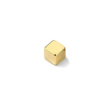 Supermagnet kube gull 5x5x5 mm.