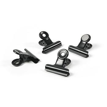 Svarte magnetklemmer Trendform Graffa 4-pakk