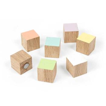 7-pakk tre kuber magnetiske TIMBER fra Trendform