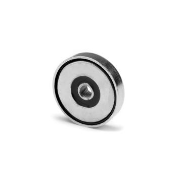 32 mm neodymmagnet med stålpot og innvendig gjenge