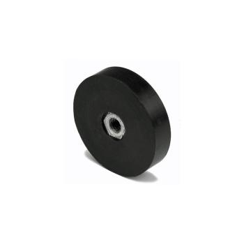 45 mm. gummi magnet med innvendig gjenge M6