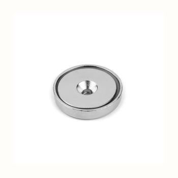Countersunk potmagnet ø40 mm. av stål og neodymium